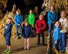 Refektorium in der Charlottenhöhle mit Kindern