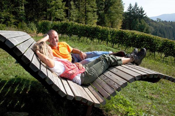 Naturgenuss und Entspannung bieten die Glottertäler Naturliegen