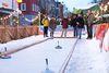 Eisstockbahn auf der Göppinger Waldweihnacht