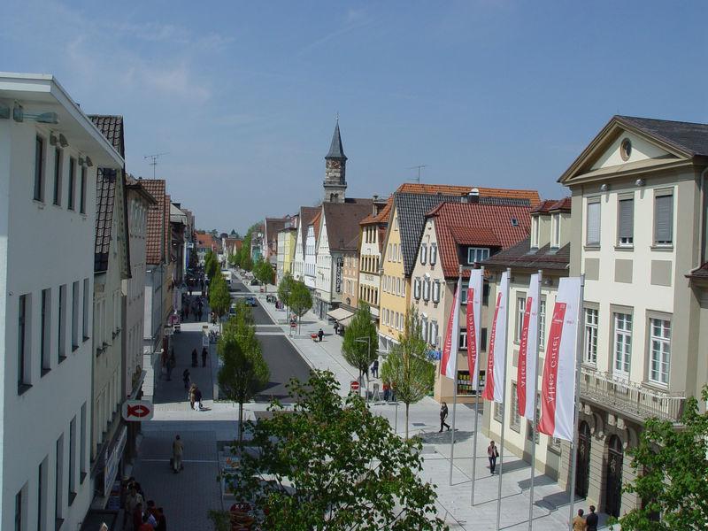 Die Hauptstraße in Göppingen