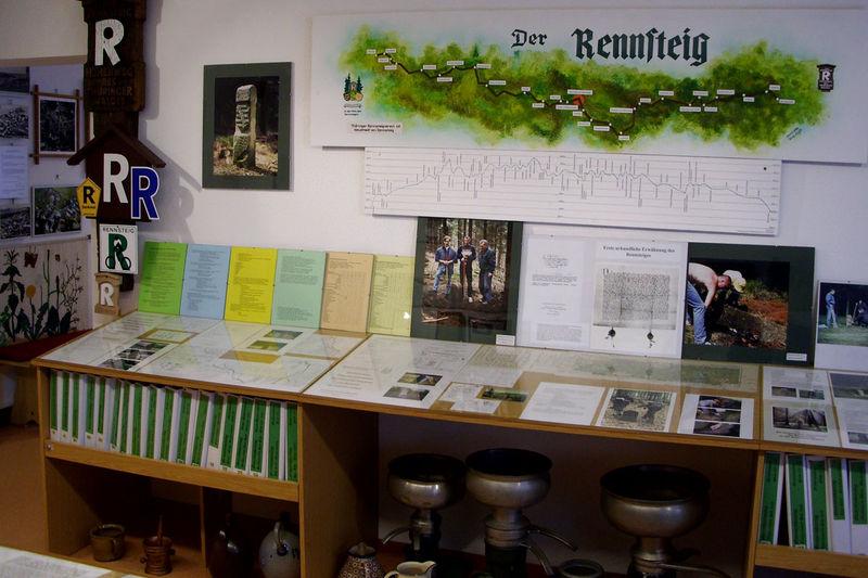 Blick in das Rennsteigmuseum in Neustadt am Rennsteig