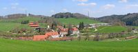 Blick auf das Haupt- und Landgestüt Marbach