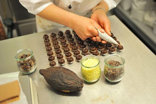 Schokoladenherstellung im Lagerhaus an der Lauter
