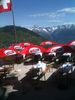 Vue splendide de la terrasse dans le restaurant Hohtschuggu