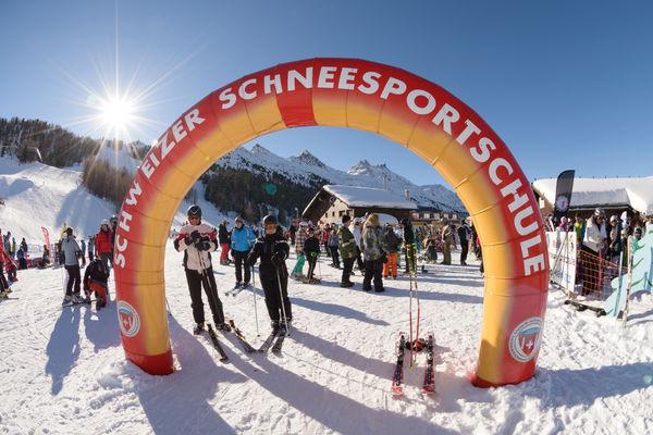 Sammelplatz Schweizerische Skischule