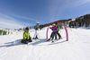 Familiy is skiing in the SiSu Familypark
