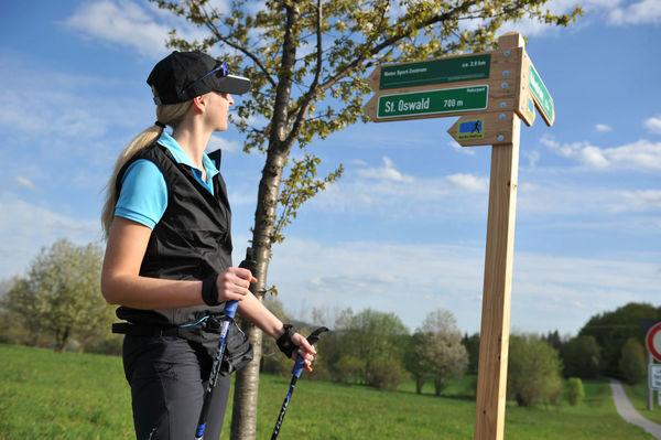 Vier Nordic Walking Routen auf mehr als 100 km Gesamtlänge