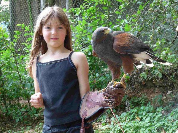 Kinderspaß im Greifvogelpark Grafenwiesen