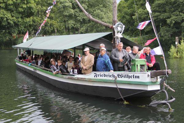 Treidelkahn auf dem Friedrich-Wilhelm-Kanal, Foto: Treidelkahn