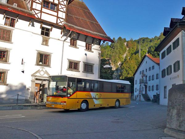 Stattliche Patrizierhäuser prägen das Dorfbild