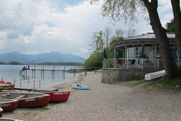 Strandbad Cafe Inselblick in Gstadt am Chiemsee.