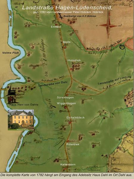Historische Karte der Dahlermark (Stiftung Haus Dahl)