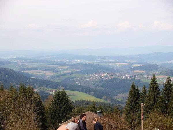 Ausblick vom Berggasthof Kreuzhaus