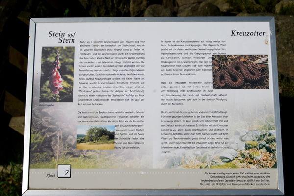 Info-Tafel am Naturlehrpfad Elisabethszell