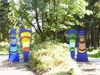 Glaskunstwerke beim Besucher-Zentrum Leopoldsreut in der Gemeinde Haidmühle