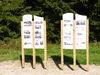 Schautafeln beim Besucher-Zentrum Leopoldsreut in der Gemeinde Haidmühle