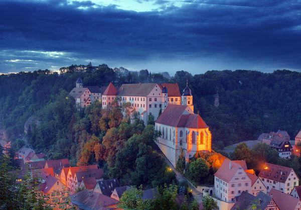 Schloss Haigerloch am Abend