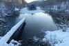 Die Teiche am Wegesrand im Winter