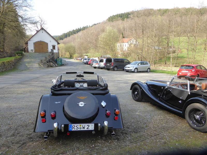 Der Parkplatz an der Heesfelder Mühle