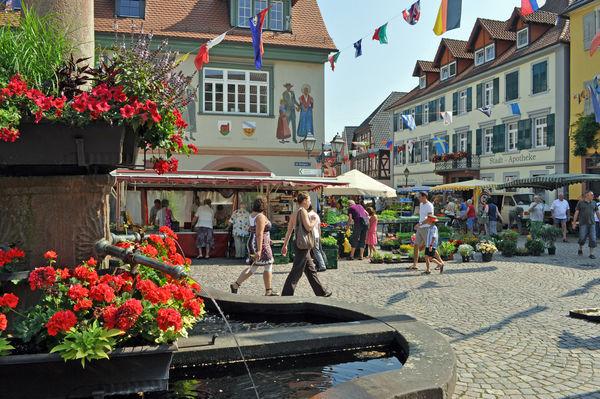 Marktplatz an einem Samstag