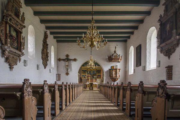 Innenraum der Kirche St. Marien in Hattstedt