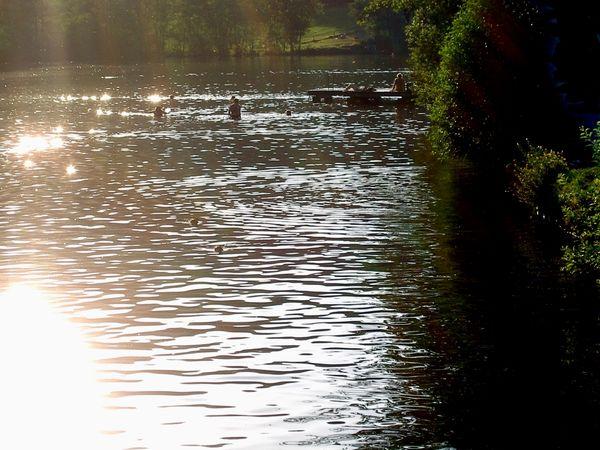 Badespaß am Freudensee bei Hauzenberg im südlichen Bayerischen Wald