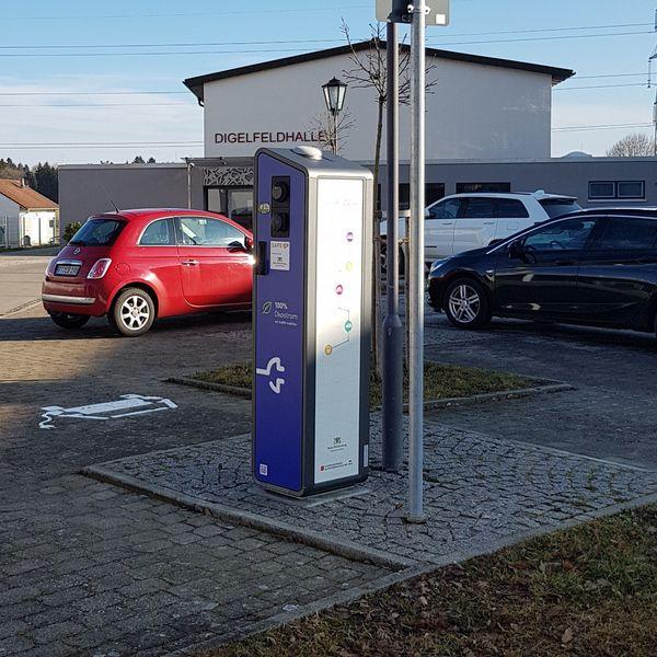 E-Tankstelle für E-Car und E-Bike