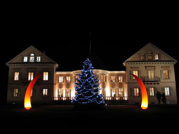 Villa Eugenia adventlich beleuchtet