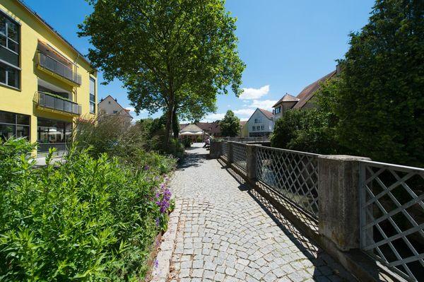 Unterstadt Hechingens mit Einkehr- und Einkaufsmöglichkeiten