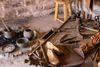 Herstellung von Schuhen in der Villa Rustica in Hechingen-Stein