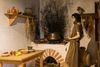 Küche in der Villa Rustica in Hechingen-Stein