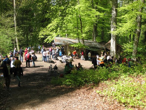 Ski-Hütte im Mai