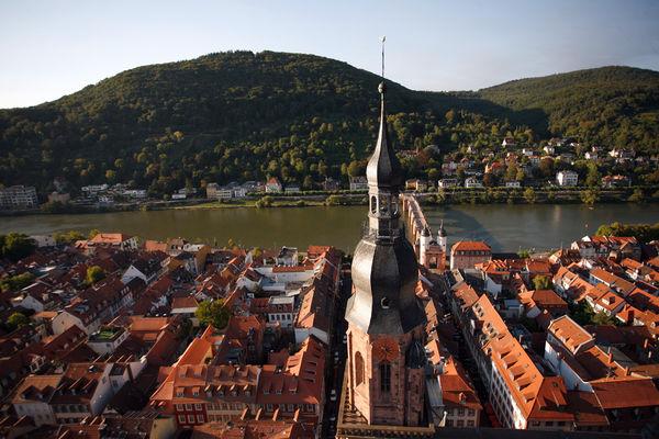 Turm der Heiliggeistkirche in Heidelberg