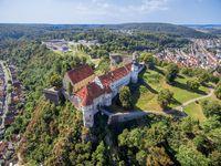 Heidenheim_Schloss Hellenstein von oben