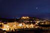 Blick auf den Schlossberg in Heidenheim bei Nacht