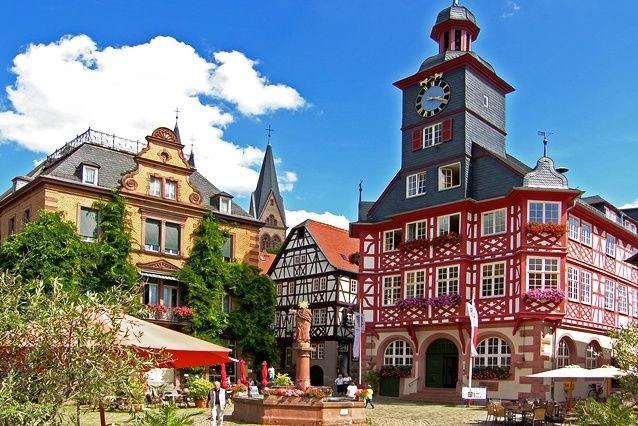 Heppenheimer Marktplatz und Rathaus