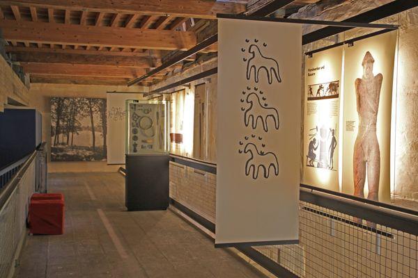 Innenansicht des Heuneburgmuseums