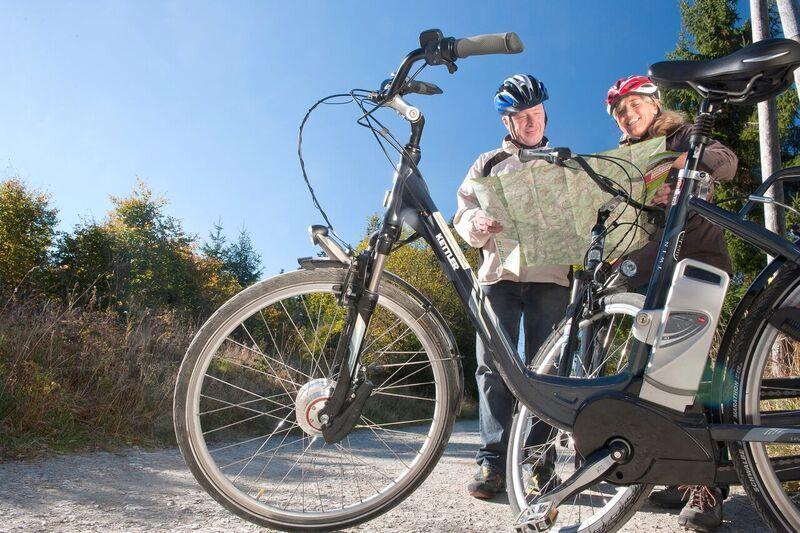 Von hier aus kann die Radtour weitergehen oder starten