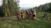 Mountainbiker auf einer geführten Tour