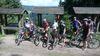 Mountainbiker auf einer geführten Tour im August 2017