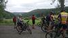 Mountainbiker auf einer geführten Tour im Juli 2017