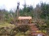Eine Bank Nahe der Rothaarhütte lädt zur Rast ein
