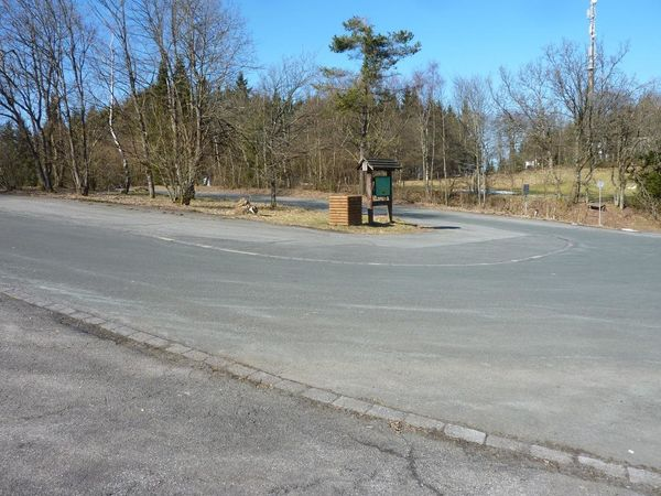 Impression des Wanderparkplatzes.