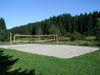 Der Beachvolleyballplatz beim Landschaftsweiher in Hinterschmiding