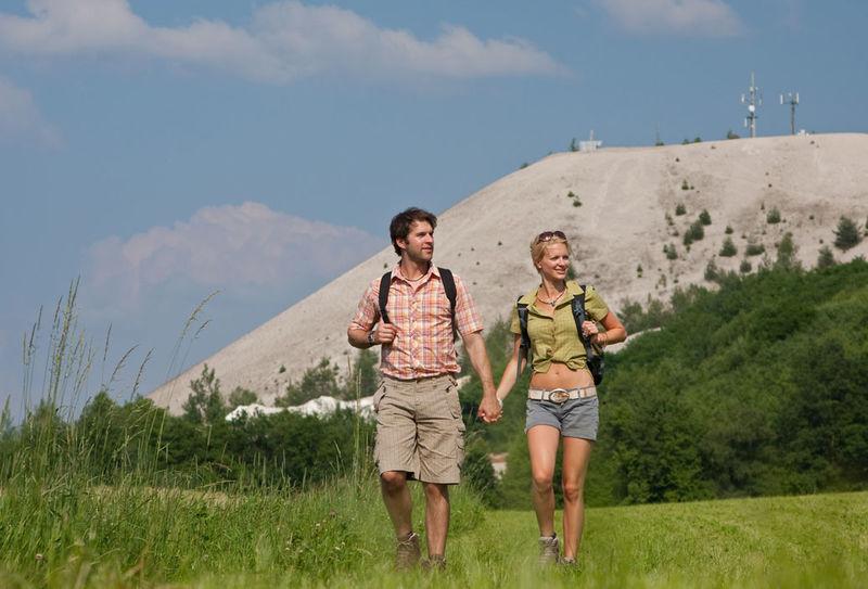 Wanderer vor dem Monte Kaolino