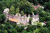 Blick auf die Burgruine Hilgartsberg bei Hofkirchen im Passauer Land