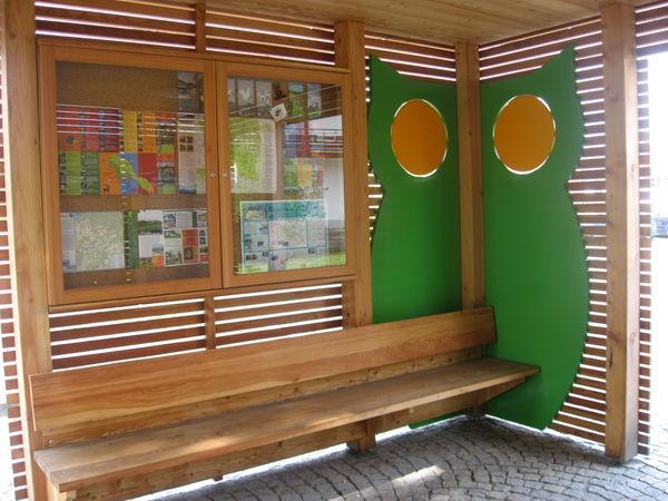 Wissenswerte Infos über die Eule, das Patentier der Gemeinde Hohenau, finden Sie im Eulenpavillon