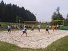 Der Beachvolleyballplatz beim Naturbadeweiher in Haslach
