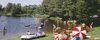 Badespaß für Jung und Alt bietet der Naturbadeweiher bei Hohenau