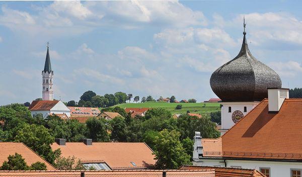 Zwiebelturm von Schloss Hohenkammer